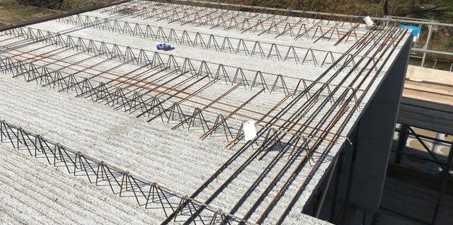 Onderwapening op breedplaatvloeren dak